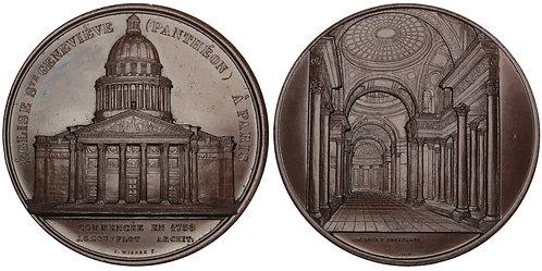 101029  |  FRANCE. Paris. Church of St. Geneviève (Panthéon) bronze Medal.