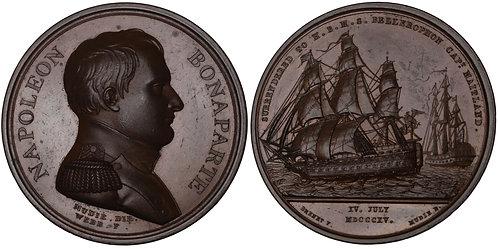 100431  |  FRANCE & GREAT BRITAIN. Napoleon I bronze Medal.