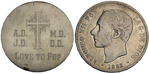 100912  |  SPAIN. Love to Pop silver Love Token.