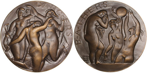 100627  |  UNITED STATES. Dancers/Bathers bronze Medal.