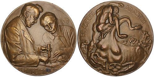 101210  |  GERMANY & JAPAN. Paul Ehrlich & Sahachiro Hata bronze Medal.