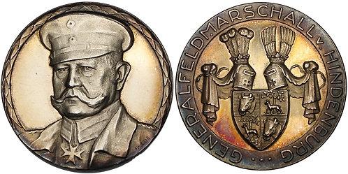100221  |  GERMANY. Generalfeldmarschall Paul von Hindenburg silver Medal.