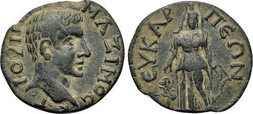100120  |  ROMAN EMPIRE. Maximus (as Caesar) bronze Unit.
