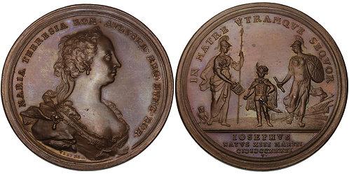 100592  |  HOLY ROMAN EMPIRE. Austria. Maria Theresia bronze Medal.