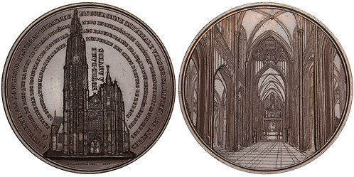 101024  |  BELGIUM. Antwerpen. Cathedral of Our Lady bronze Medal.