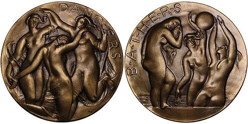 100249  |  UNITED STATES. Dancers – Bathers bronze Medal.