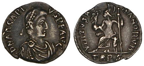 100133  |  ROMAN EMPIRE. Arcadius silver Siliqua.