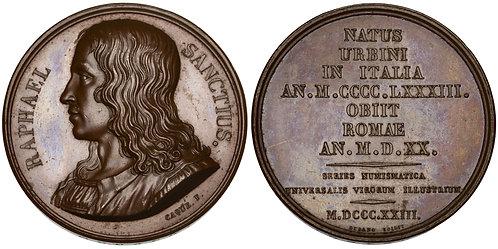 101525     ITALY & FRANCE. Raffaello Sanzio da Urbino bronze Medal.