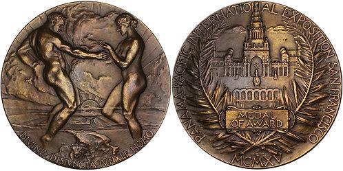 100645  |  UNITED STATES. Panama-Pacific International Expo bronze award Medal.