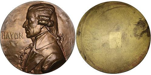100282  |  AUSTRIA. Joseph Haydn cast uniface bronze Medal.