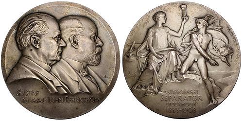 101339  |  SWEDEN. Gustaf de Laval & John Bernström silver Medal.