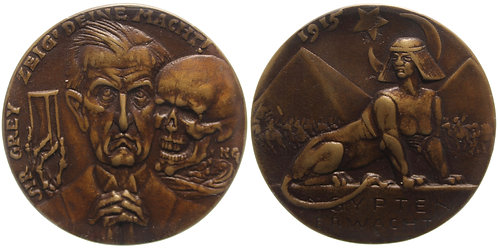 100442  |  GERMANY & GREAT BRITAIN. Satirical cast bronze Medal.
