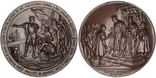 101095  |  UNITED STATES & SPAIN. Christopher Columbus bronze Medal.
