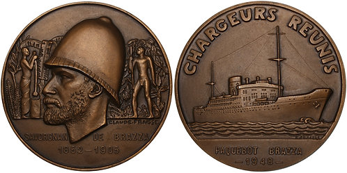 100262  |  FRANCE. Chargeurs Réunis bronze Medal. Struck 1948.