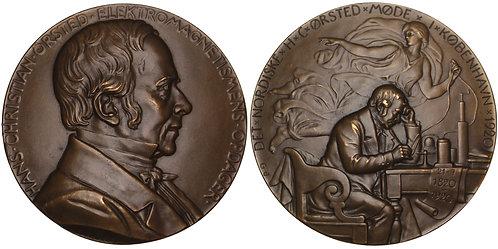 101177  |  DENMARK. Hans Christian Ørsted bronze Medal.