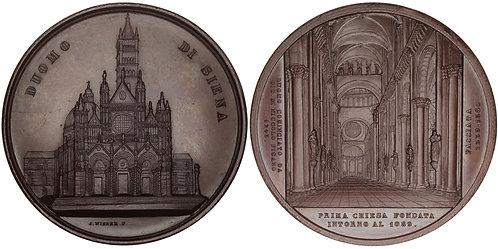 100732  |  ITALY. Duomo di Siena bronze Medal.