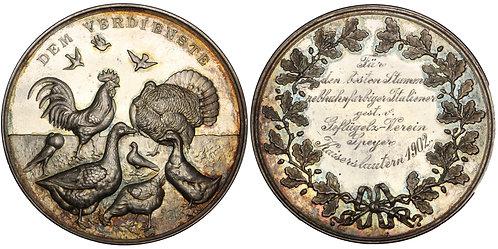 100928  |  GERMANY. Avian silver Prize Medal.