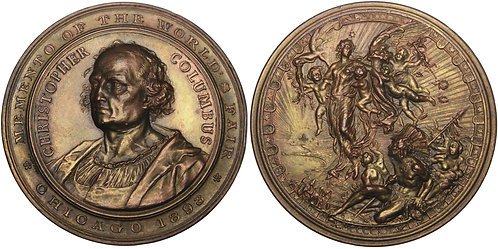 100969  |  UNITED STATES & ITALY. Christopher Columbus bronze Medal.