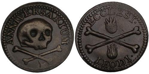 100379  |  BELGIUM. Luik (Liège). Chapter of St. Lambert's bronze Méreau.