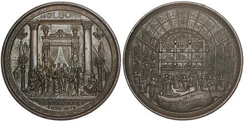101239     GREAT BRITAIN. Holborn Restaurant bronzed pewter Medal.