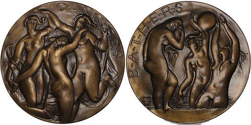 100648 UNITED STATES. Dancers – Bathers bronze Medal.