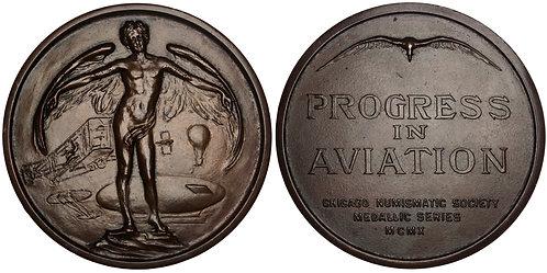 101389  |  UNITED STATES. Progress in Aviation bronze Medal.