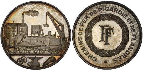 100995  |  FRANCE. Railroad silver Jeton.