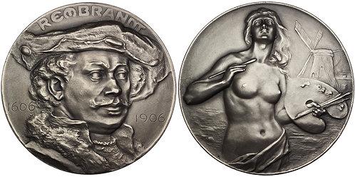 100445  |  NETHERLANDS. Rembrandt Harmenszoon van Rijn silvered bronze Medal.