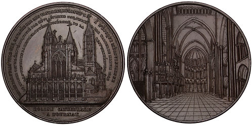 101001  |  BELGIUM. Tornai. Cathedral of Our Lady bronze Medal.