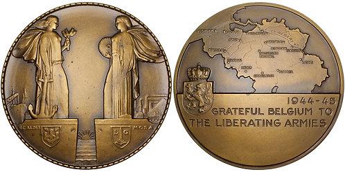 101578     BELGIUM. World War II Art Deco [Artist's Proof] bronze Medal.