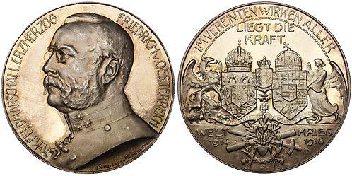 100420  |  AUSTRIA-HUNGARY & GERMANY. Archduke Friedrich silver Medal.