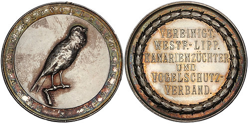100929     GERMANY. Aviculture silver Prize Medal.