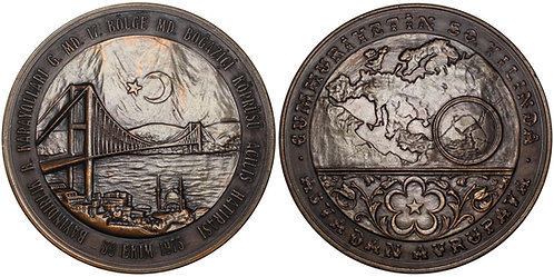 100425  |  TURKEY. Bosphorus Bridge bronze Medal.