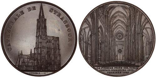 101030  |  FRANCE. Strasbourg. Strasbourg Cathedral bronze Medal.