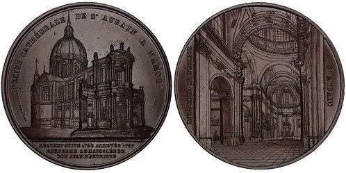 101002  |  BELGIUM. Namur. St Aubin's Cathedral bronze Medal.
