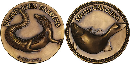 100522  |  UNITED STATES. South Carolina Aquatic Life bronze Medal.