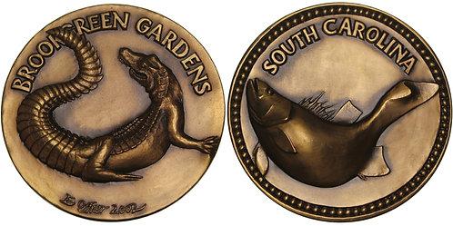 100522  |  UNITED STATES. South Carolina Aquatic Life bronze Medal.