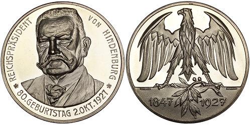 100609  |  GERMANY. Reichspräsident Paul von Hindenburg silver Medal.