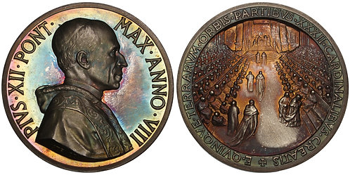 100798  |  ITALY. Vatican City. Pope Pius XII silver Medal.