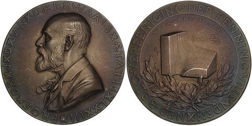 100639  |  BELGIUM & THE NETHERLANDS. Van der Waals silvered bronze Medal.