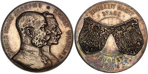 100620  |  GERMANY & AUSTRIA-HUNGARY. Wilhelm II & Franz Joseph silver Medal.