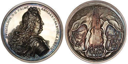 100874     GERMANY. Anhalt-Harzgerode. Prince Wilhelm silver Medal.