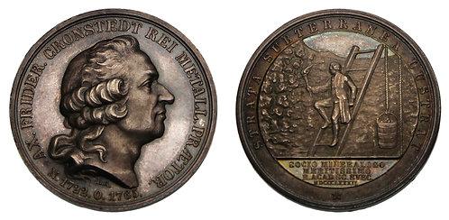 100092     SWEDEN. Axel Friderick Cronstedt silver Medal.
