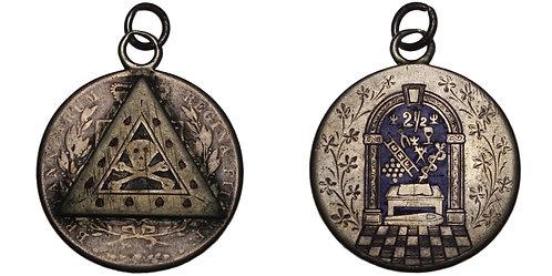 101135  |  GREAT BRITAIN & NORTHERN IRELAND. Orange Order engraved Half Crown.