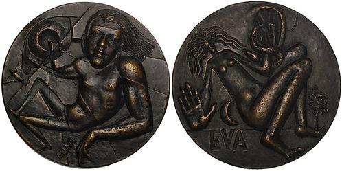 100628     FINLAND & SWEDEN. Adam & Eve bronze Medal.