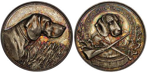 101141     GERMANY & CZECH REPUBLIC. Chomutov/Komotau. Silver award Medal.