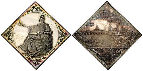 100848  |  GERMANY. Dresden. Silver Shooting Klippe Medal.
