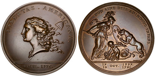 101315  |  UNITED STATES & FRANCE. Libertas Americana bronze Medal.