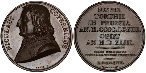 101243  |  POLAND & FRANCE. Nicolaus Copernicus bronze Medal.