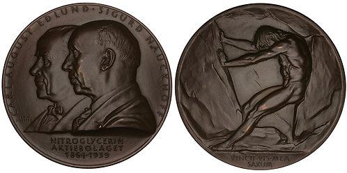 101112  |  SWEDEN. Carl August Edlund & Sigurd Nauckhoff bronze Medal.
